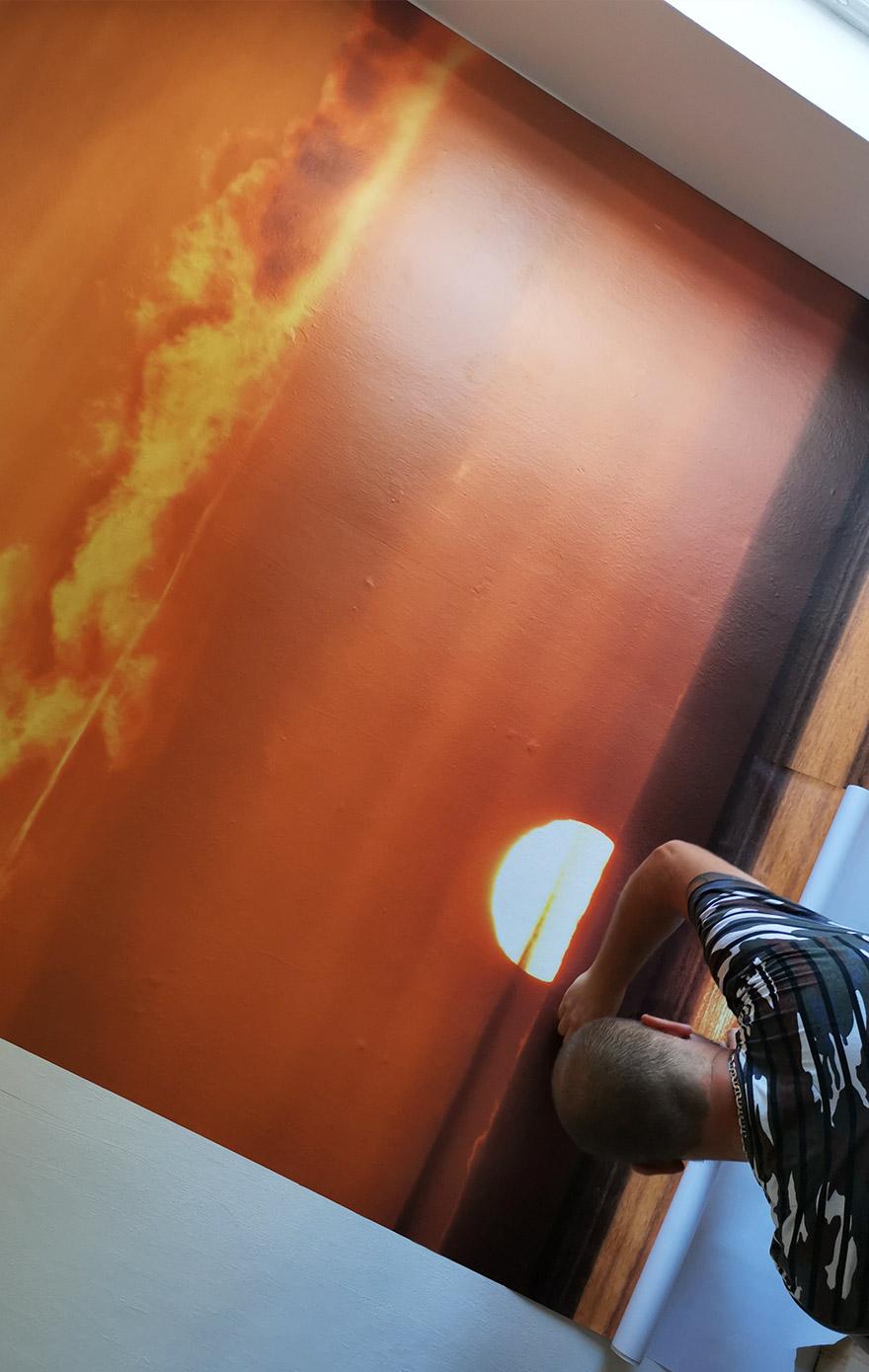 nálepka na stenu